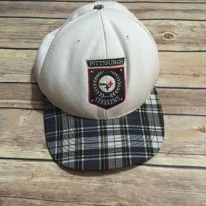 VTG Pittsburgh Steelers SnapBack Cap Plaid